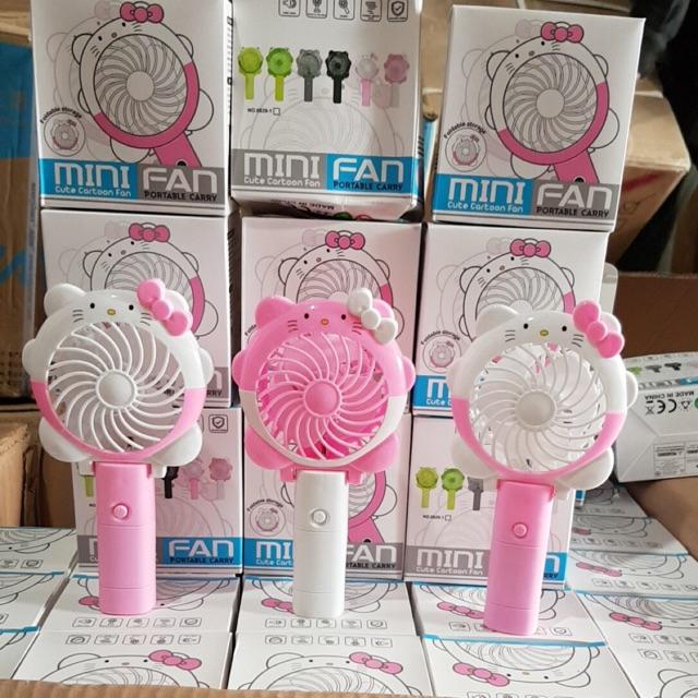 😘Quạt Kitty Minifan 8029-Quạt Cầm Tay Tích Điện