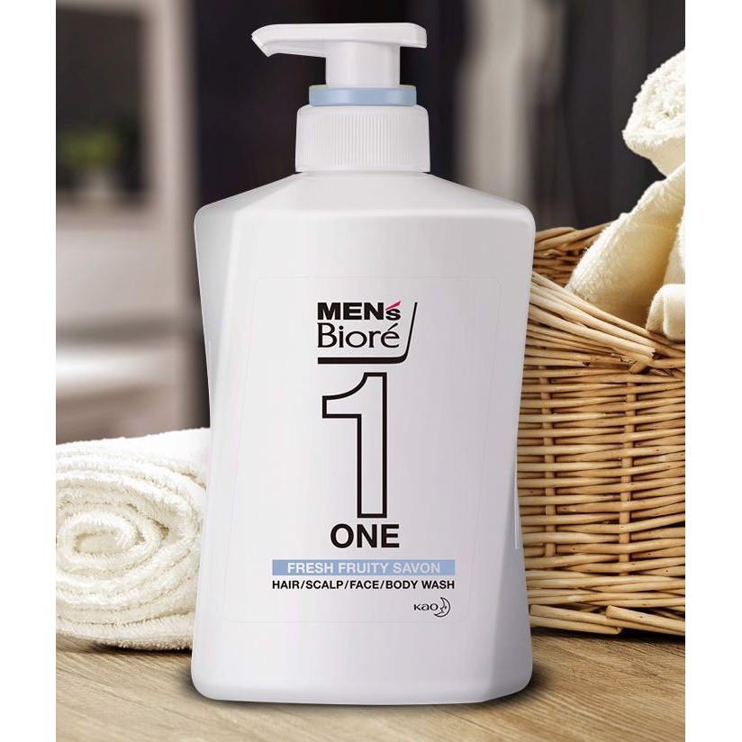 480ml] Sữa Tắm, Gội, Rửa Mặt Cho Nam Hương Thảo Mộc Bioré Men s One | Tẩy  tế bào chết, massage | InnisfreeShop.Vn