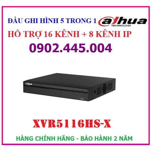 Đầu ghi hình 16 kênh Dahua XVR5116HS-X hỗ trợ camera HDCVI/TVI/AHD/Analog/IP 5M-N, 4M-N/1080P