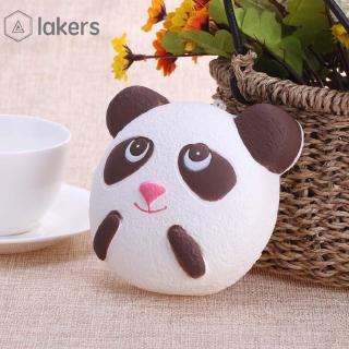 lakers✡Ready Stock Panda Face Squeeze Bread PU Slow Rising Animal Scented Bread Kid Toy Gift