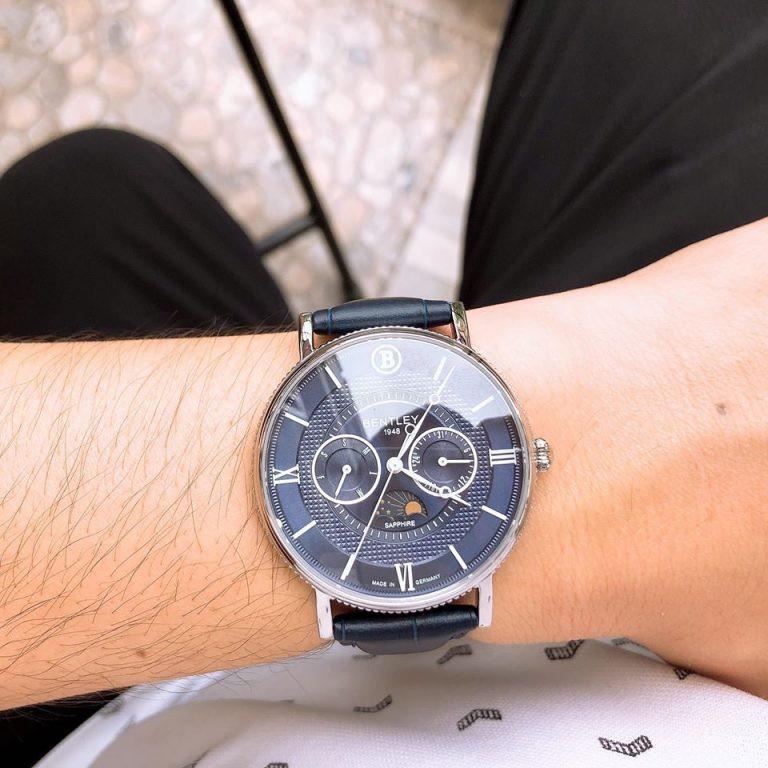 Đồng hồ nam dây da Bentley BL1865 BL1865-30 BL1865-30MWNN