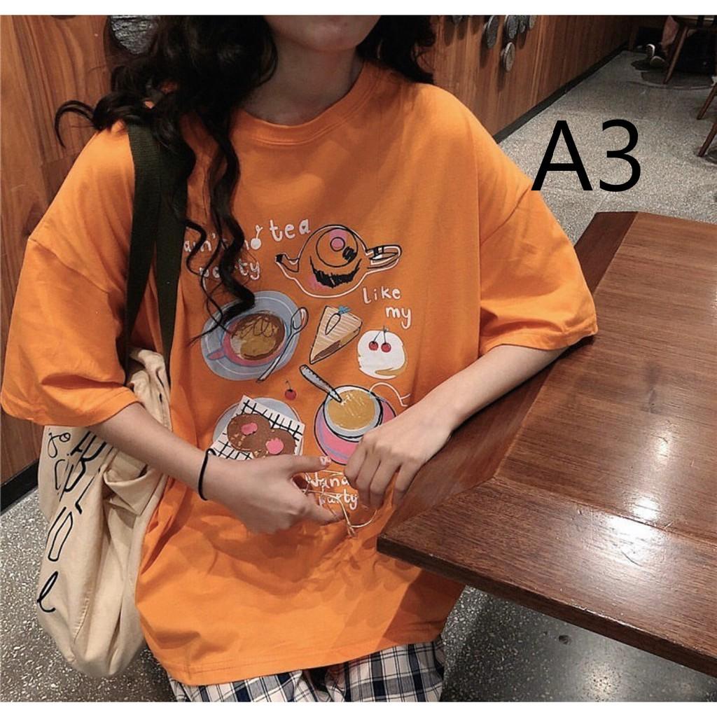 Combo 2 áo thun nữ giấu quần form chuẩn Hàn Quốc A01-A09