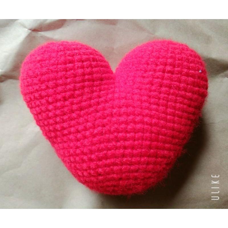 trái tim bằng lên móc