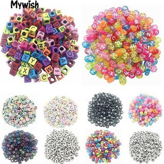 👶🏼100 Pcs DIY Random Alphabet/Letter Cube Spacer Loose Beads Jewelry Making