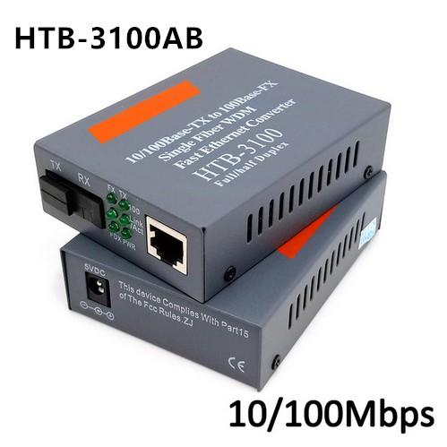 10/100Mbps HTB-3100A / B Converter Fiber Optical Single Mode