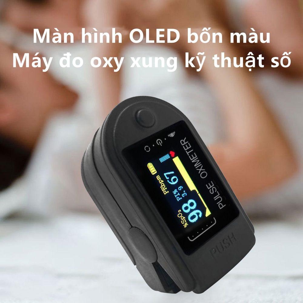 Oximeter/Màn hình OLED bốn màu máy đo oxy xung kỹ thuật số / máy đo oxy kẹp ngón tay gia đình / các kết quả đọc nhanh và chính xác