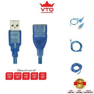 Dây nối dài usb 1.5m, 3m, 5m, 10m 2.0 màu xanh chống nhiễu ,hàng chất lượng.shopphukienvtq