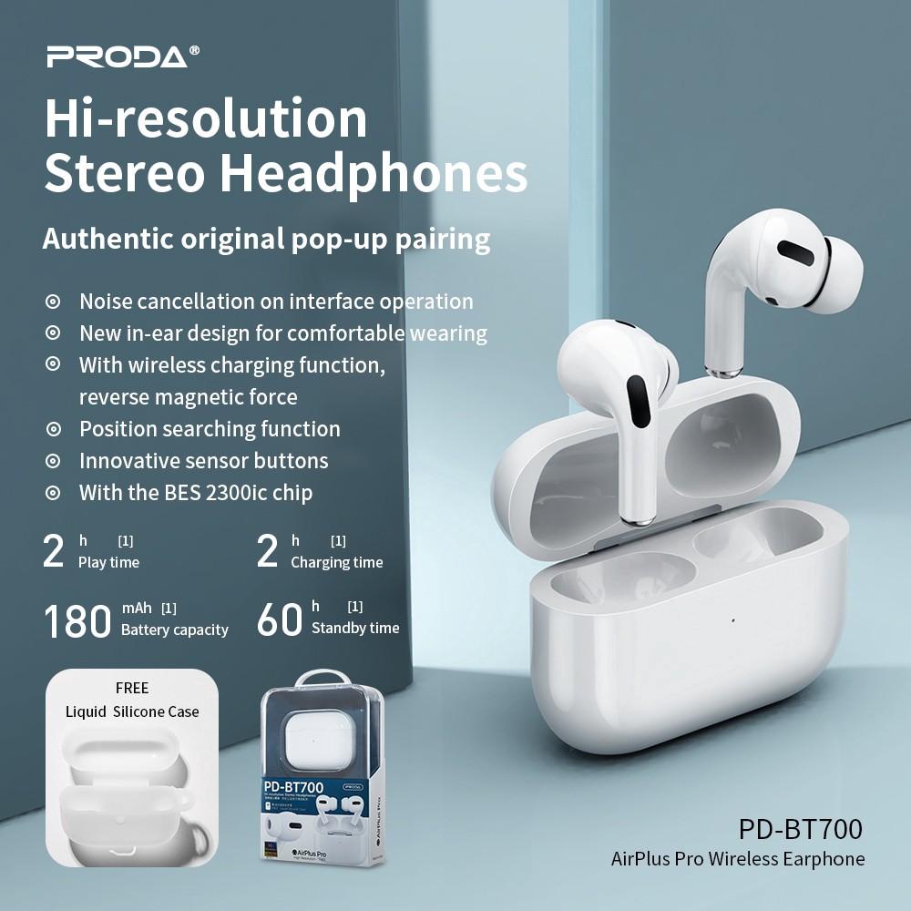 Tai nghe Bluetooth TWS Remax Proda PD-BT900 AirPlus Pro V5.0 (Trắng) - Hãng phân phối