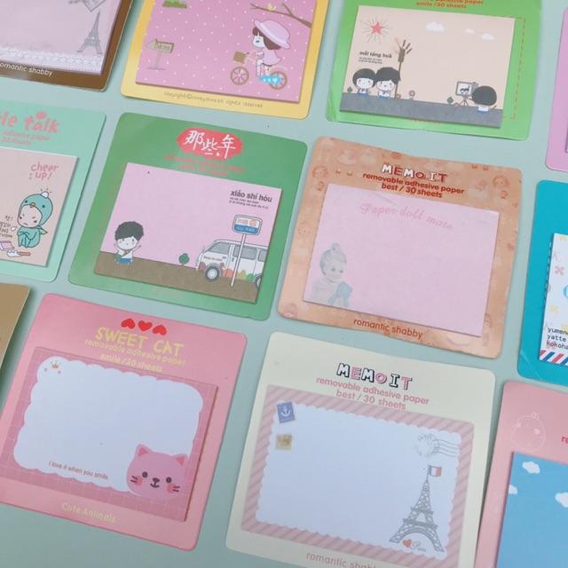 Giấy Note pilu cute nhiều mẫu, giấy nhớ hình em bé