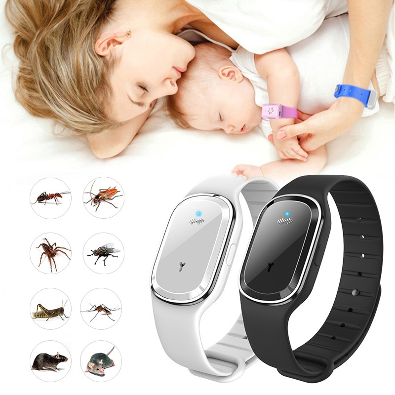 [✅COD] Anti Mosquito Capsule Pest Insect Bugs Ultrasound Repellent Bracelet Wristband For Kids Adult