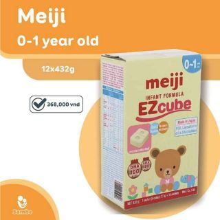 Meiji 0-1 year Old Ezcube Infant Forrmula ( dạng thanh)