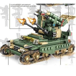 Đồ chơi lego lắp ráp Combo 4 trong 1 xe tăng tên lửa Kazi 84056
