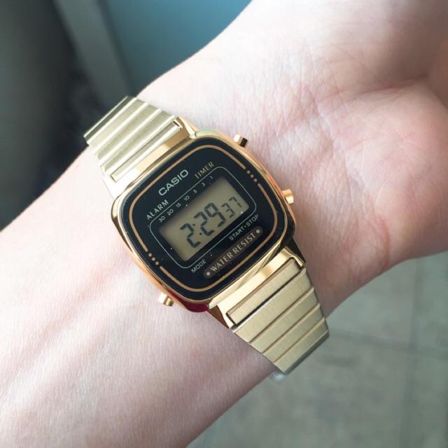 (Chính hãng) Đồng hồ nữ điện tử casio mặt khoáng, dây thép vàng Nhật Bản Series LA670 Gold - 9994377 , 482233391 , 322_482233391 , 600000 , Chinh-hang-Dong-ho-nu-dien-tu-casio-mat-khoang-day-thep-vang-Nhat-Ban-Series-LA670-Gold-322_482233391 , shopee.vn , (Chính hãng) Đồng hồ nữ điện tử casio mặt khoáng, dây thép vàng Nhật Bản Series LA670 G