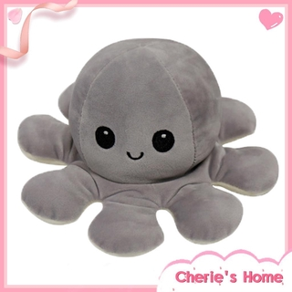 [CherieHome] Double-Sided Flip Reversible Octopus Plush Toy Marine Life Stuffed Animals Dolls