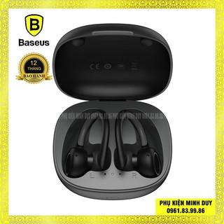 Tai nghe bluetooth Baseus Encok W17 True Wireless Earphone chống thấm nước IP5X, cảm ứng thông minh