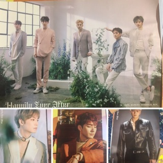 Set 4 offical poster Nuest Happlily ever àter kèm đồ đựng.