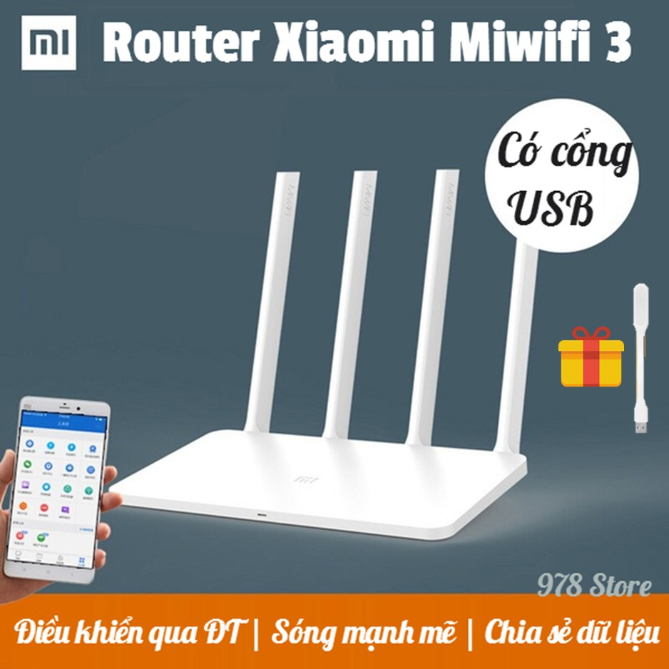 [CHÍNH HÃNG] Bộ Phát Wifi Xiaomi Router Gen 3| ROUTER XIAOMI MIWIFI 3 | BỘ THU PHÁT WIFI XIAOMI ROUT - 2694060 , 32514847 , 322_32514847 , 550000 , CHINH-HANG-Bo-Phat-Wifi-Xiaomi-Router-Gen-3-ROUTER-XIAOMI-MIWIFI-3-BO-THU-PHAT-WIFI-XIAOMI-ROUT-322_32514847 , shopee.vn , [CHÍNH HÃNG] Bộ Phát Wifi Xiaomi Router Gen 3| ROUTER XIAOMI MIWIFI 3 | BỘ THU PHÁ