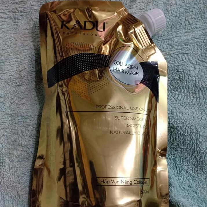 [Siêu rẻ] Hấp túi phục hồi tóc vạn năng KADU Collagen Hair Mask 500ml abc