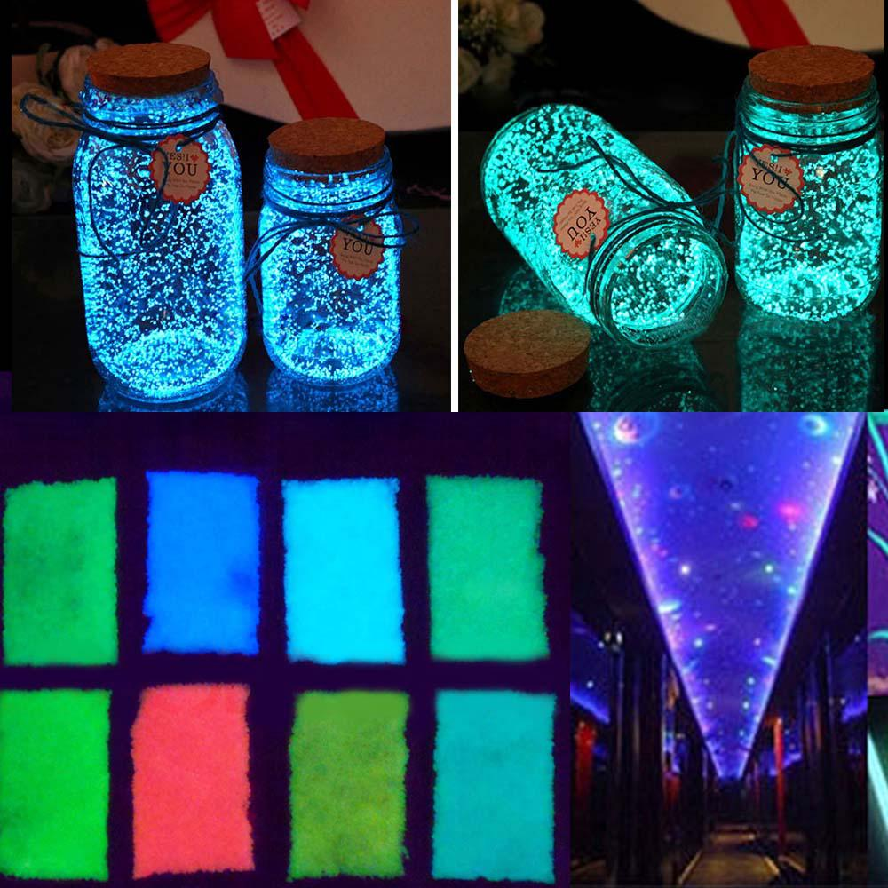10g Fluorescent Particles Glow in The Dark DIY Sand Pigment Party Decoration Wishing Bottle