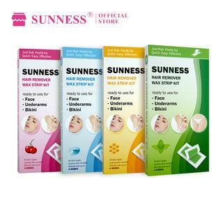 Set 24 miếng sáp tẩy lông SUNNESS dùng tẩy lông mặt vùng kín chân và cơ thể khi đi du lịch