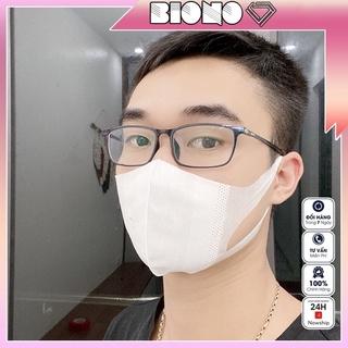 Khẩu trang 3D mask chính hãng kháng khuẩn màu trắng kiểu hàn quốc hộp 50 cái thumbnail