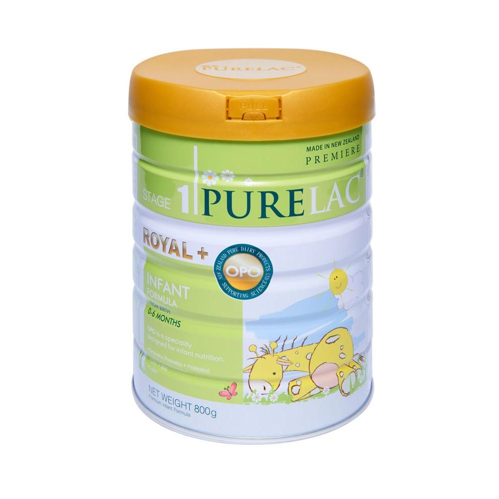 Sữa công thức PureLac Royal+ (Stage 1) hộp 800gr nhập khẩu nguyên hộp từ NewZealand cho bé từ 0 đến 6 tháng