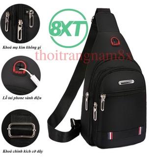 Túi đeo chéo nam phong cách Hàn Quốc 1 ĐỔI 1 Chất liệu vải cavas chống nước, thiết kế BASIC, hoạ tiết trơn 3 ngăn thumbnail