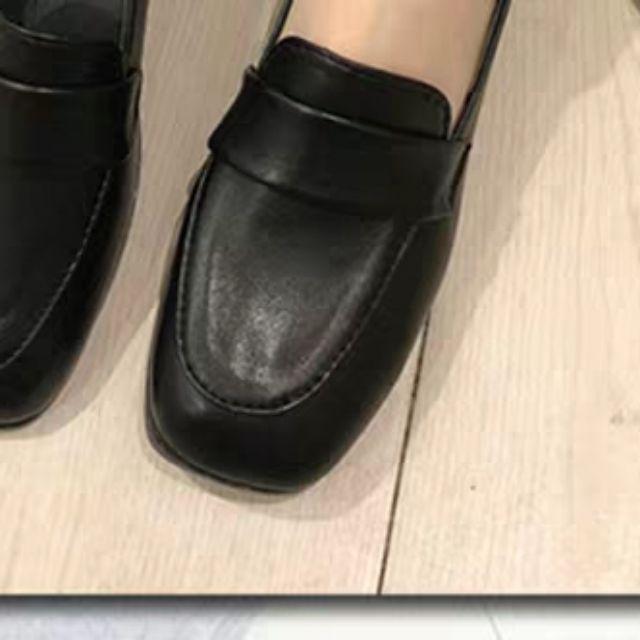 Giày Hàn Quốc kiểu Công Sở đế 2p, 2 màu đen, nâu