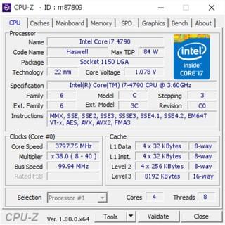 Chip CPU I7 4790 – 2ND Socket 1150, 4 nhân 8 luồng