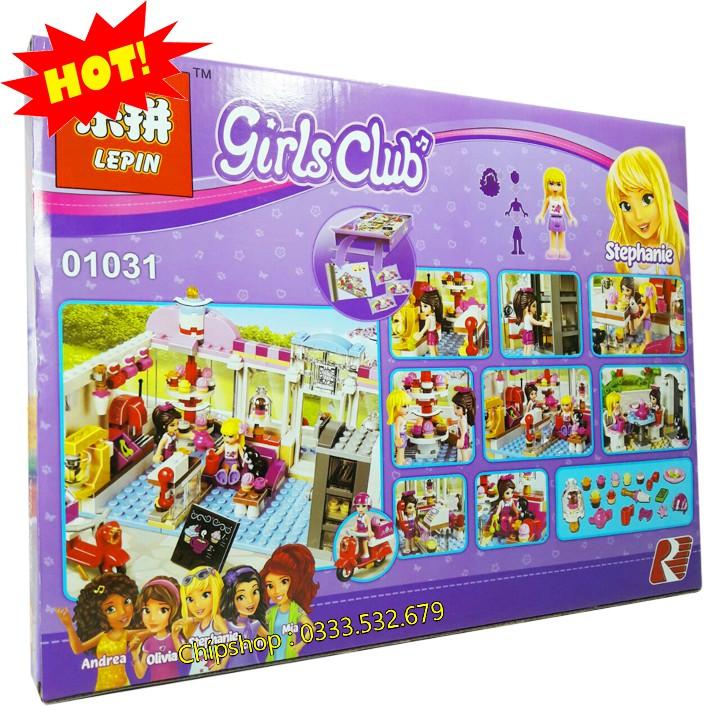 Bộ Lego Xếp Hình Friends Tiệm Bánh Ngọt. Gồm 491 Chi Tiết. Lego Ninjago Lắp Ráp Đồ Chơi Cho Bé.
