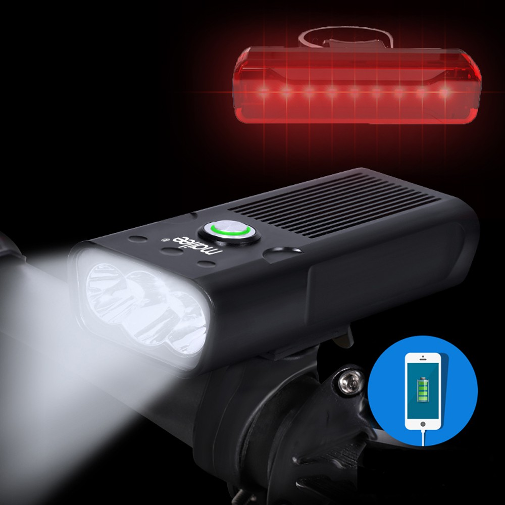Bộ Đèn Pha Trước Xe Đạp Có Sạc USB Siêu Sáng Cao Cấp Chống Nước và Đèn Hậu Phía Sau Dành Cho Xe Đạp MLH