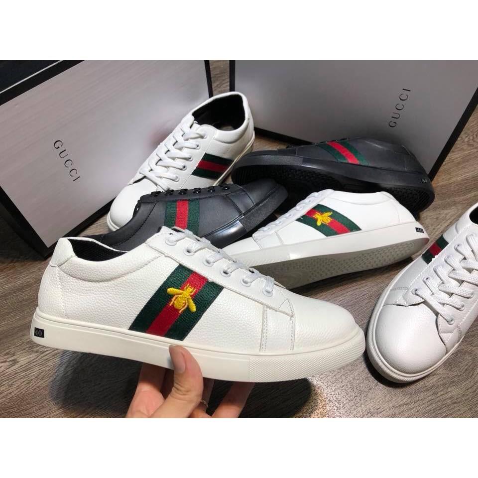 [kapeeshop]Giày da logo thêu Gucci