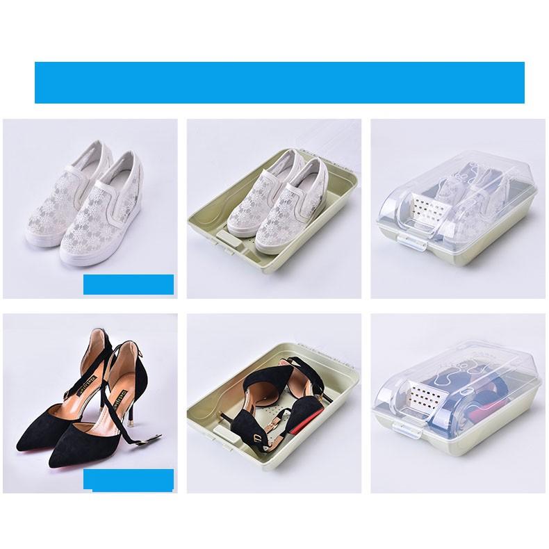 [TIỆN LỢI] Combo 3 hộp đựng giày trong nhà, hộp đựng giày trời mưa tiện lợi, ngăn nắp, gọn gàng