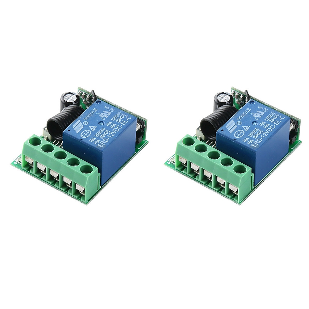 2PCS Wireless Learning Type Remote Control Home Mini Multifunction Single Way Relay Switch