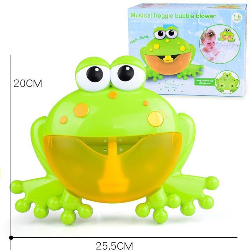 Máy tạo bọt bong bóng hình con ếch đáng yêu cho bé
