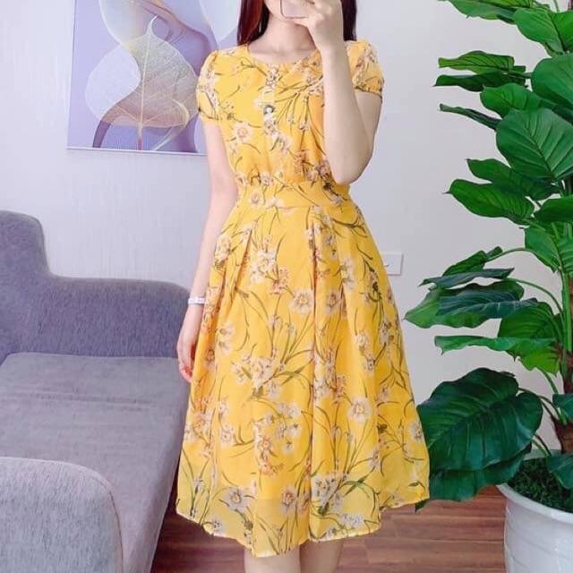 Váy tơ hoa cực xinh