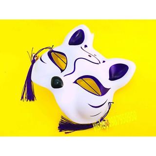 Mặt nạ mèo vẽ kèm chuông hàng đẹp mã FSX48 QKM-688