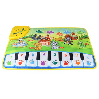 60*37Cm Musical Music Kid Piano Baby Play Mat Animal Educational Soft Kick Toy