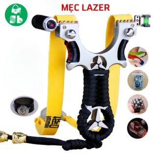 Ná cao su MECEDES nguyên khối INOX đèn Lazer có thước ngắm và phụ kiện