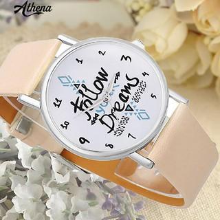 Đồng hồ nữ mặt tròn dây giả da thời trang thumbnail