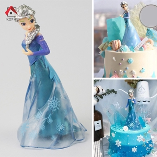 IKXRM Available Princess Figurine Cake Topper Happy Birthday Cake Decoration Birthday Gift Toy for Kids
