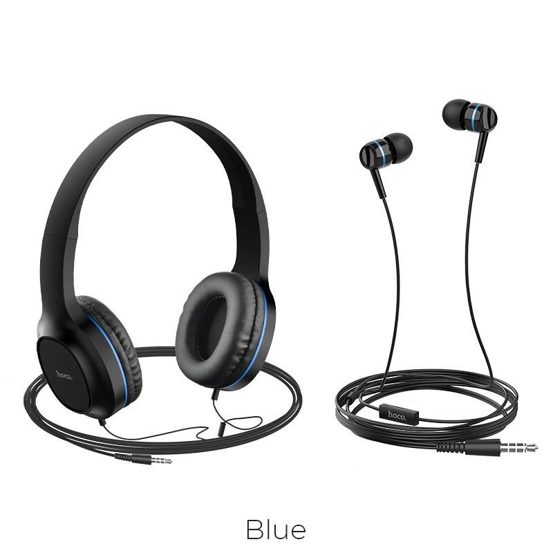 Bộ 2 tai nghe có dây Hoco W24 chụp tai và nhét tai Enlighten âm ...