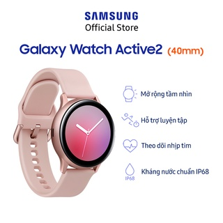 Hình ảnh [Mã ELSSCP300 giảm 5% đơn 500K] Đồng Hồ Samsung Galaxy Watch Active 2 (40mm) Viền Nhôm Dây Silicone Hồng-1
