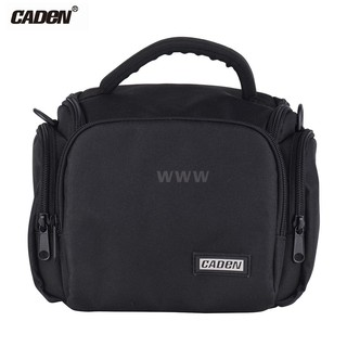 CADEN Padded Camera Bag Zippered Design Shockproof Black for Nikon Canon Sony DSLR Cameras Lenses Small Size