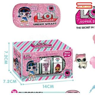 Cute Cartoon Doll Toy Box Packing for Collectors Hobbyists Kids Baby
