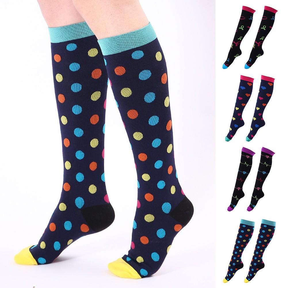 luoyangmudan Colorful Heart Dots Print  Men Women Breathable  Socks