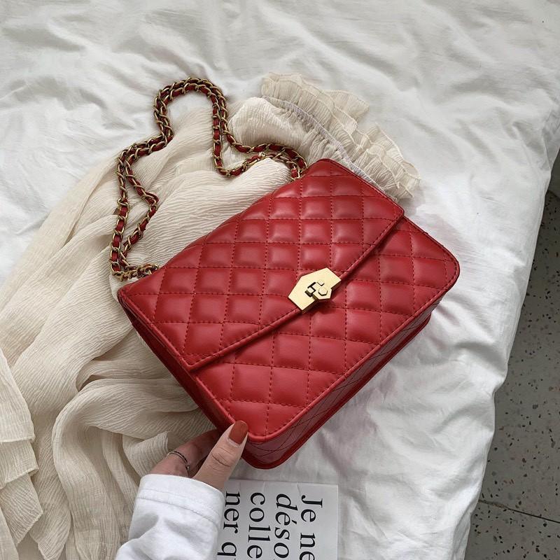 Túi xách nữ đẹp, họa tiết caro, thiết kế sang trọng, nhiều màu hàng loại đẹp mã DT188