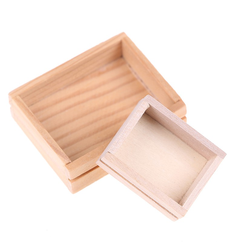 Coagulatepower 1/12 dollhouse miniature accessories wooden box furniture model toy for kids toy