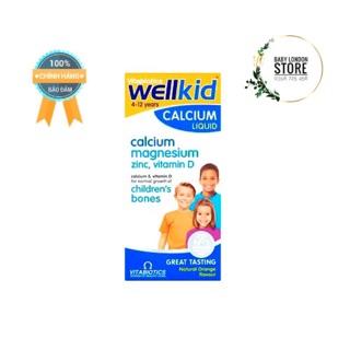 Vitamin tổng hợp Wellkid Calcium Liquid bổ sung canxi vtm D và khoáng cho bé cao lớn phát triển khoẻ mạnh 150ml