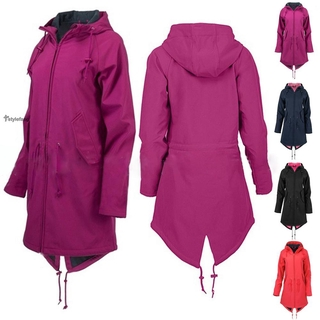 Women Overcoat Coat Hoodie Winter Warm Long Jacket Overcoat L-3XL Ladies Fuax Fleece Outwear Outerwear Plus Size